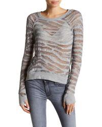 Black Orchid - Burnout Knit Sweatshirt - Lyst