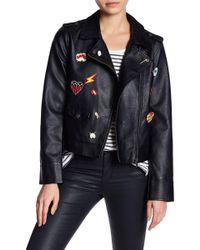 Jack BB Dakota - Ray Pin Patch Faux Leather Jacket - Lyst