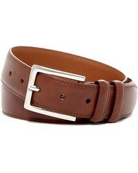Nordstrom - Basic Solid Edge Stitch Leather Belt - Lyst