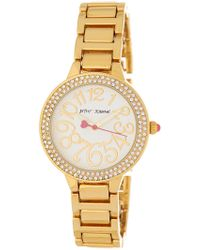 Betsey Johnson - Women's Crystal Embellished Watch, 32mm - Lyst