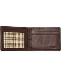 Boconi - Tyler Pebbled Leather Slimster Bifold Wallet - Lyst