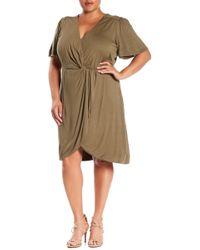 REBEL WILSON X ANGELS - Twist Front Dress (plus Size) - Lyst