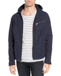 John Varvatos - Tonal Camo Print Hooded Jacket - Lyst