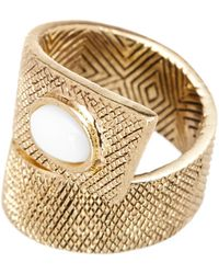 House of Harlow 1960 - Tanta Crosshatch Stone Ring - Size 6 - Lyst