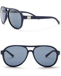 Armani Exchange - Men's Aviator 58mm Acetate Frame Sunglasses - Lyst