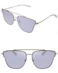 Kendall + Kylie - Women's Bree Flat Lens Butterfly Aviator Sunglasses - Lyst