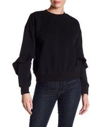 Lucca Couture - Alice Ruffle Sleeve Sweatshirt - Lyst