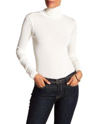 Laundry by Shelli Segal - Ribbed Turtleneck Tee - Lyst