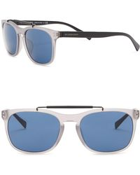 Burberry - 56mm Square Matte Sunglasses - Lyst