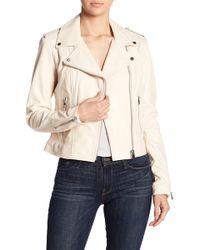 Lamarque - Donna Leather Biker Jacket - Lyst