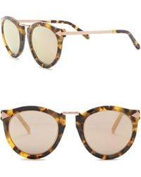 824c59f0e56 Lyst - Karen Walker Harvest Superstars 58mm Round Sunglasses in Metallic