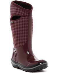 Bogs - Plimsoll Houndstooth Tall Waterproof Snow Boot - Lyst