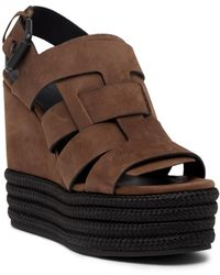 AllSaints - Marzee Platform Wedge Sandal - Lyst