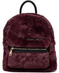 5148de9382 Nordstrom Rack · Urban Expressions - Tilly Vegan Faux Fur Mid Backpack -  Lyst