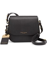 51a0139a7f2 Marc Jacobs Empire City Mini Messenger Leather Crossbody Bag in Gray - Lyst
