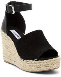 Steve Madden - Julian Ankle Strap Wedge Platform Sandal - Lyst