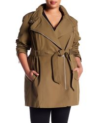 Vince Camuto - Asymmetrical Belted Trench (plus Size) - Lyst