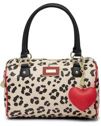 Betsey Johnson - Printed Satchel - Lyst