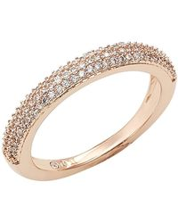 Nadri - Stackable Pave Cz Band - Size 7 - Lyst