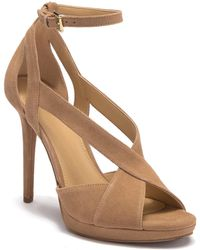 dbf454ec824a Lyst - MICHAEL Michael Kors Becky Sandal Suede in Natural