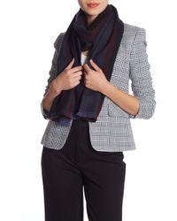 Gucci Striped Wool Scarf - Blue