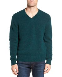 Bonobos - Fuzzy Deep V-neck Wool Blend Jumper - Lyst