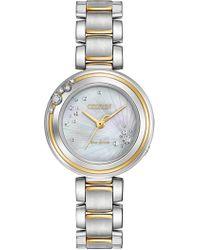Citizen - Women's Eco-drive Two-tone Carina Diamond Watch, 28mm - 0.0053ctw - Lyst