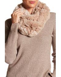 Joie - Infinity Dyed Genuine Rabbit Fur Scarf - Lyst