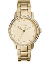 Fossil - Women's Neely Crystal Embellished Bracelet Watch - Lyst