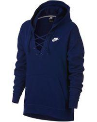 Nike - Club Lace-up Hoodie - Lyst