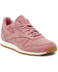 Reebok - Classic Leather Clean Exotic Trainer - Lyst