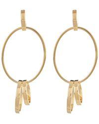 Argento Vivo - 18k Gold Plated Sterling Silver Oval Post Drop Earrings - Lyst