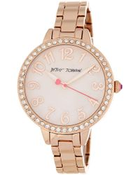 Betsey Johnson | Women's Be-dazzled Crystal Embellished Bracelet Watch, 38mm | Lyst