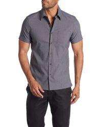 Perry Ellis - Short Sleeve Stain Resistant Water Repellent Slim Fit Shirt - Lyst