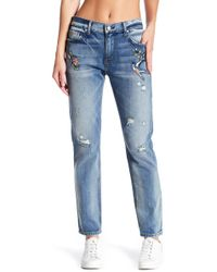 ei8ht dreams - Embroidery Boyfriend Jeans - Lyst
