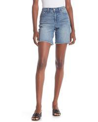 NYDJ - Jenna Frayed Denim Shorts - Lyst