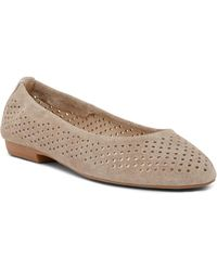 Nine West - Glack Perforated Flat - Lyst