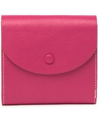 Halogen - Leather Curve Flap French Wallet - Lyst ab3590ee64048