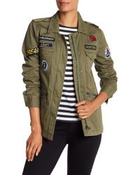 Velvet By Graham & Spencer - Patch Detail Army Jacket - Lyst