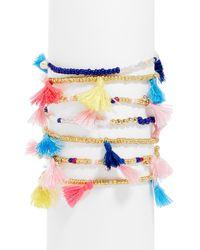 BaubleBar - Indy Tassel Bracelet Set - Lyst