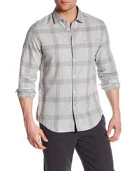 Good Man Brand - Windowpane Long Sleeve Trim Fit Shirt - Lyst