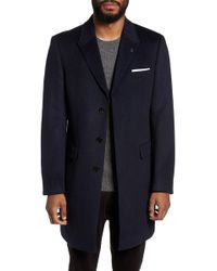 Ted Baker - Endurance Wool & Cashmere Overcoat - Lyst