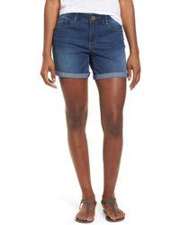 Wit & Wisdom - Ab-solution Cuffed Denim Shorts (regular & Petite) (nordstrom Exclusive) - Lyst