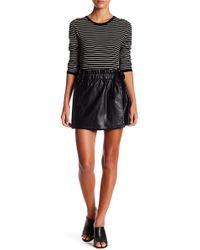 Jolt - Faux Leather Wrap Skirt (junior) - Lyst