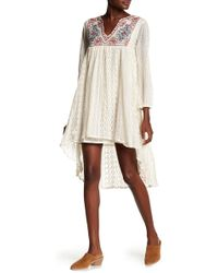 Boho Me - Embroidered Lace Dress - Lyst