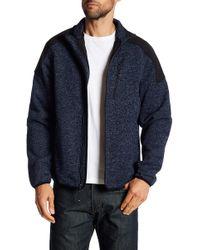 Izod - Zip Front Fleece Sweater - Lyst
