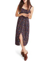 Madewell - Tie Strap Midi Dress - Lyst