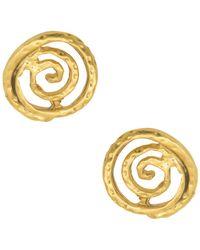 Karine Sultan - Hammered Spiral Stud Earrings - Lyst