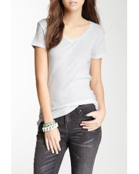 Alternative Apparel - Baby Rib V-neck Tee - Lyst