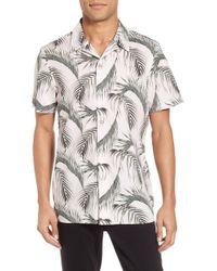 Calibrate - Slim Fit Short Sleeve Print Camp Shirt - Lyst